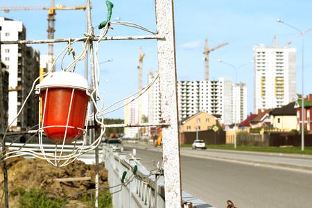 heaviness: construction lamp