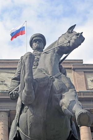 marshal: Monument to Marshal Zhukov