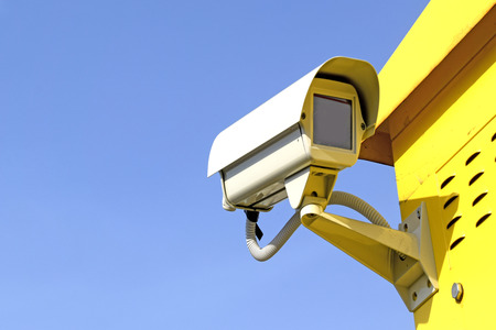 prying: Surveillance Camera on a sky background