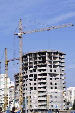 tall buildings: The construction of tall buildings Stock Photo
