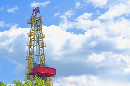 dais: Shale gas drilling rig Stock Photo