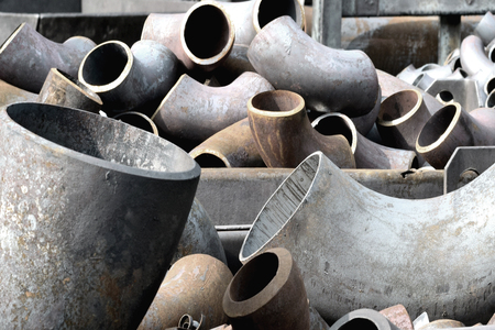 laborious: Pipes and bends steel in stock