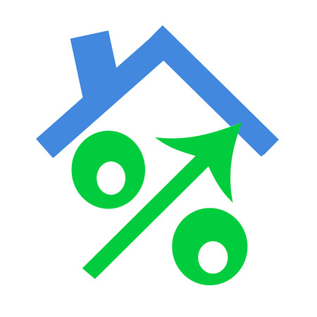 high end: The green sign of percent designating increase
