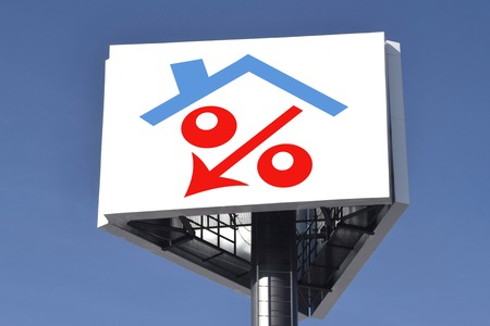 decline in values: The decline in real estate prices Stock Photo