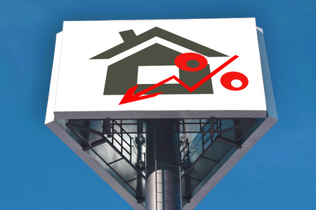 decline in values: A Billboard advertising the sale of real estate