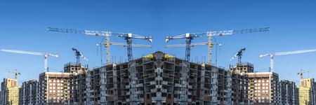 hospedaje: Panorama de la construcción de edificios modernos de hormigón