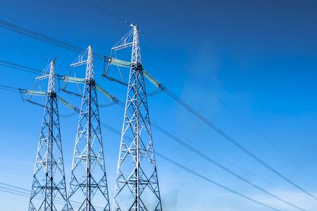 power line against the blue sky