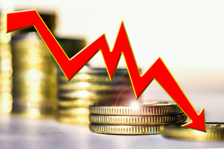 gewerkschaft: Zeitplan fallen gegen Bars. Das Konzept der Reduzierung der Kosten des Marktes.