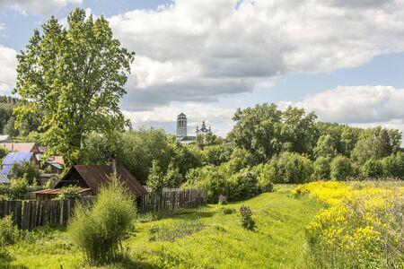 Russia. Perm region. Summer color in the Russian village.