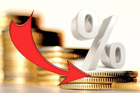 Arrows change the exchange rate on the background of money. The concept of changing the exchange rate.