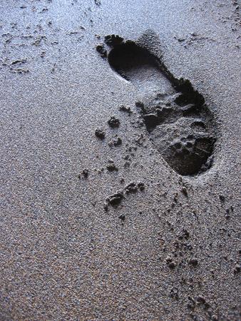 footprint Stock Photo - 58719244