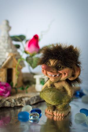 troll dolls: Statuette of Norwegian trolls