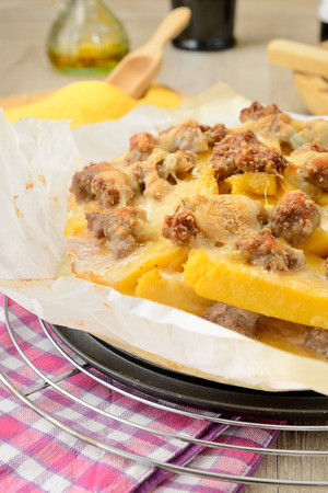botched: Botched Polenta with sausage and cheese