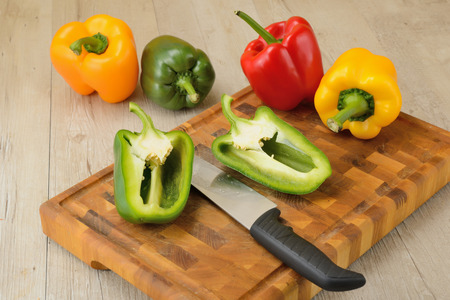 Bell pepper sliced photo