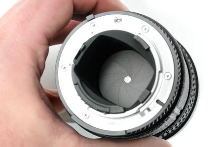카메라 렌즈의 조리개의 세부 사항