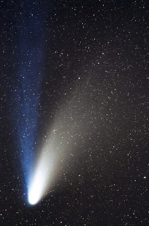 tail: Comet in the night sky