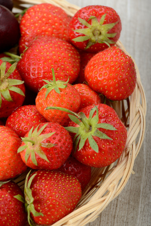 basket of strawberries photo