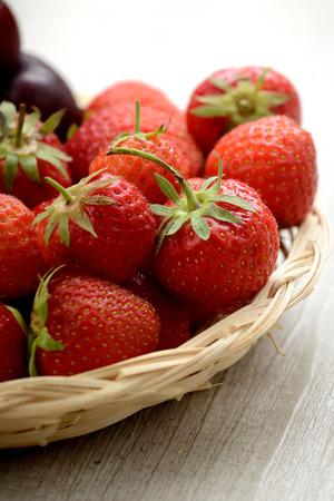 basket of strawberries photo