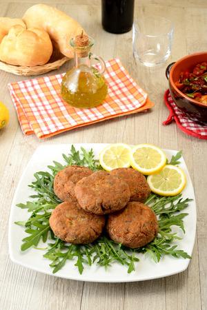 meatballs with salad photo