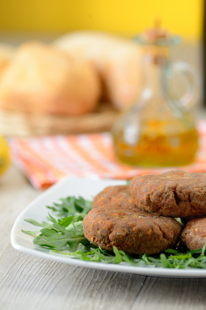 meatballs with salad photo