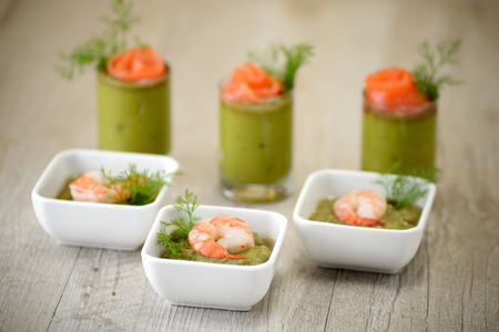canape with shrimp photo