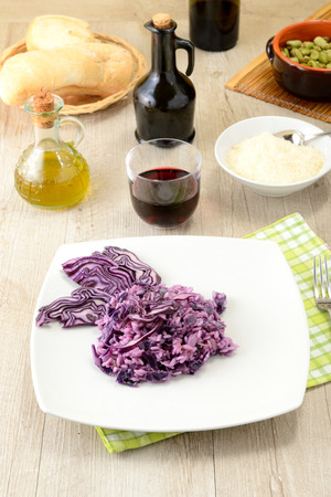 risotto with red cabbage photo