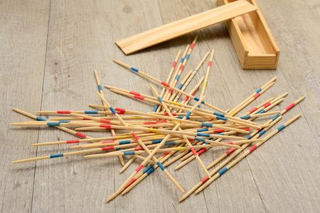wood stick: game of mikado or shangai