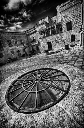 Glimpses of the city in black and white in Malta photo