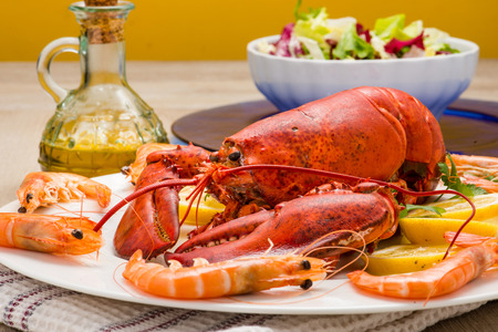 lobster tail: American lobster with shrimp