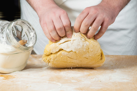 preparation of homemade pasta photo
