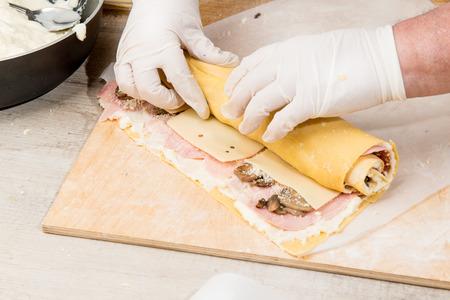 Baked Pasta stuffed photo
