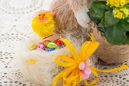 Easter decoration shaped chick photo