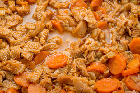 trippa: Foiolo with beans and carrots