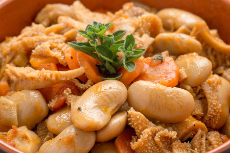 Foiolo with beans and carrots photo