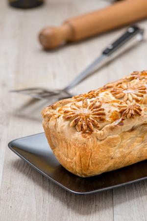 meatloaf: meatloaf crust filled with eggs