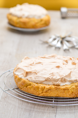 lemon pie with meringue photo