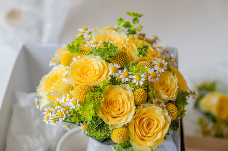 bridal bouquet: Bouquet with yellow flowers