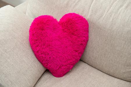 heart-shaped pillow photo