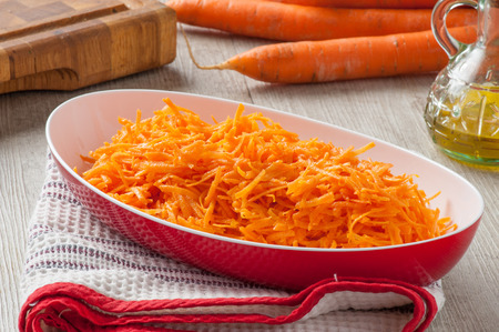 Sliced carrots photo