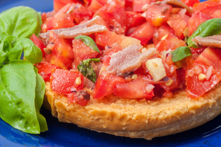 appetizer with raw tomato