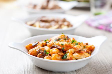comida italiana: italiano gnocchi Foto de archivo