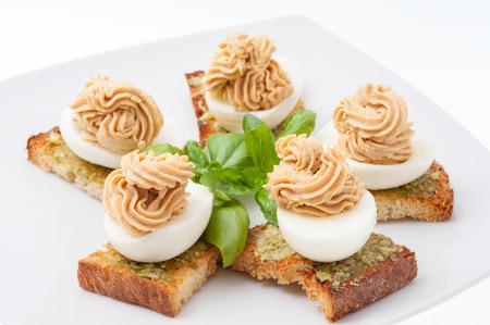 채워진 달걀 스톡 콘텐츠