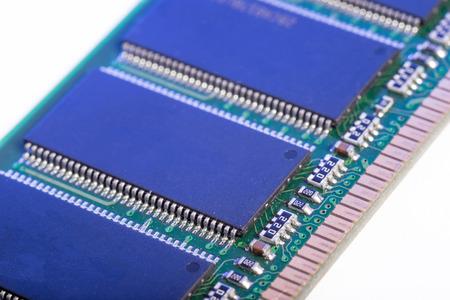RAM memory module on white background