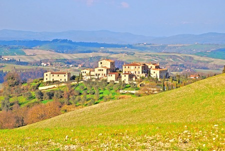 val d      orcia: SUBURB OF RURAL HOUSES IN TUSCAN  VAL D ORCIA ITALY