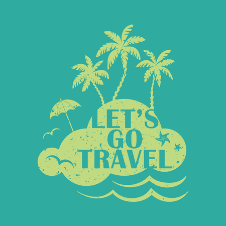 Lets go travel. Vacations and tourism concept vector illustration.