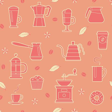 Coffee seamless pattern.