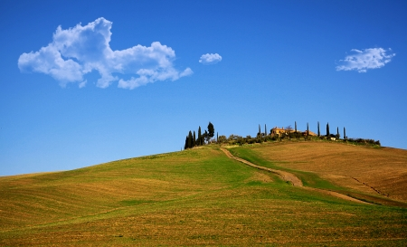 val d orcia: val d'Orcia Hill Cottage Stockfoto