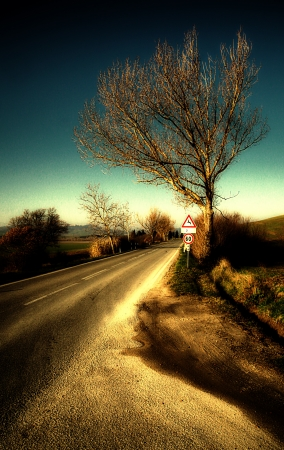 orcia: val d orcia road Stock Photo