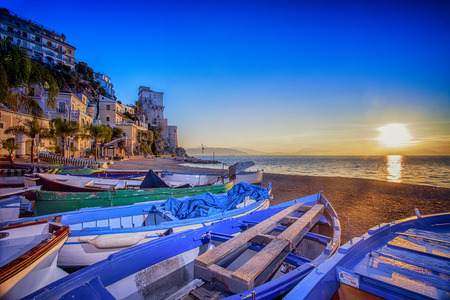 playa cetara Foto de archivo