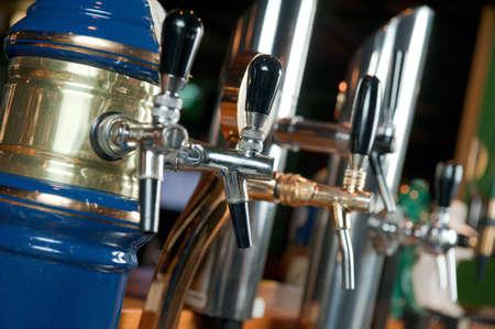 handle bars: Tap beer Stock Photo